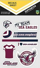 NRL Manly Sea Eagles UV Car Tattoo Mixed Sticker iTag Decal Sheet