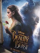 Disneys BEAUTY AND THE BEAST 2017 Original 2 Sided 4x6' Bus Shelter Movie Poster