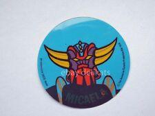 ADESIVO Sticker card vintage UFO ROBOT GOLDRAKE 1978 nome MICAELA