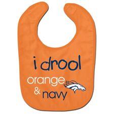 Denver Broncos Wincraft NFL All Pro I Drool Orange & Navy Baby Bib FREE