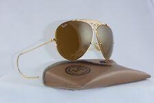 Rare! vintage ray ban Shooter Sunglasses Lic 62 8 EE. UU. b&l b15 Sport perchas w/Case