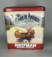 Red Man Chewing Tobacco Tin The Flavor of America 1992 Limited Edition Vintage