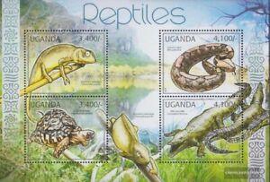 Uganda 2780-2783 Minifoglio (completa edizione) MNH 2012 Rettili