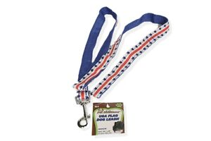 Stars and Stripes Dog Leash Medium Pet Solutions Webbing with Loop Handle