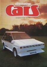 Alternative Cars magazine 10-11/1981 featuring Panther Six, Hustler, Lola, Lotus