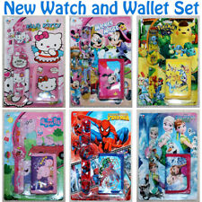 Children Character Watch and Wallet Set Girls Boys Kids Party for Gift