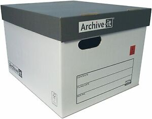 10x Extra Large Connect Archive It Storage Cardboard Boxes with Lids A4 Strong