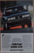 1985 PONTIAC 6000 advertisement, Pontiac 6000 STE