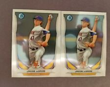 HOT 2 LOT! 2014 BOWMAN CHROME JACOB DEGROM RC ROOKIE ☆ METS ACE ☆ FREE SHIPPING