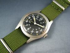 Vintage Hamilton Stainless  GG-W-113 US Military Hacking Mens Pilots Watch 1985