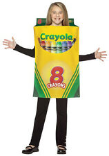 LICENSED CRAYOLA CRAYON BOX HALLOWEEN COSTUME UNISEX CHILD SIZE MEDIUM 7-10