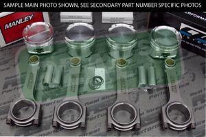 CP Pistons Manley H-Tuff Rods EVO 1-9 4G63T 7 BOLT 85mm 9.0:1 2G DSM 9.5:1 EVO