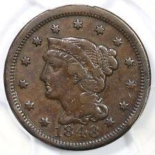 1848 N-42 R-5 PCGS VF 20 Braided Hair Large Cent Coin 1c