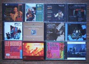 Collection ou lot de 24 CDs guitare (classique et musiques du monde), raretés