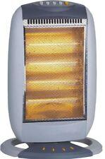 Halogen Heater 4 Bar Portable Oscillating Quartz Home Office 1600W Electric