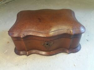 Antique Leather covered Jewellery Box