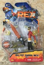 "Cartoon Network Mattel Generator REX BIG FAT SWORD & TACTICAL SUIT 4"" figure"