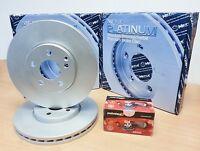 FOR BMW 730D E65 E66 FRONT MEYLE PLATINUM BRAKE DISCS PAD PADS SET VENTED 348mm