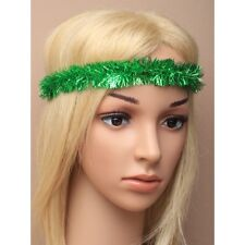 NEW  Green tinsel bandeaux Christmas Hair accessory party festive celebration