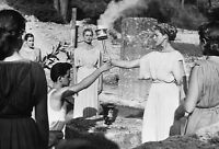 8x12 Photo: Lighting Torch at Olympia Greece for 1956 Summer Olympics Melbourne