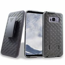 Holster Shell Hard Case Cover Belt Clip Holster Kickstand for Samsung Galaxy S8
