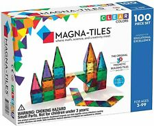 Magna Tiles 100 Clear Color 3D Magnetic Building Tiles Valtech Express Shipping