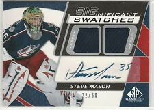 2008-09 SP Game Used SIGnificant Swatches #SSSV Steve Mason 22/50 RC-year auto