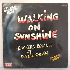 "Rockers Revenge Et Donnie Calvin ‎– Walking On Sunshine (Vinyl, 12"", Maxi 45 T)"