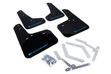 Rally Armor Mud Flaps Guards for 12-16 Focus RS Hatch (Black w/Light Blue Logo)