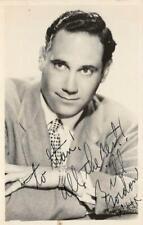 RPPC BILL GORDON Actor Photo c1940s Autographed Signed Vintage Postcard