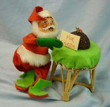 "Annalee Dolls 7"" Santa's Plum Puddin' 1975 Christmas  C-23 AL569"