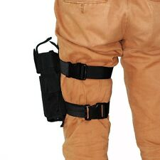 Black Adjustable Tactical Pistol Army Gun Drop Leg Thigh Holster Pouch bw Holder