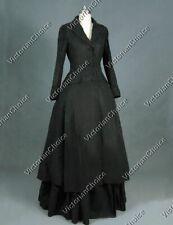 Victorian Sherlock Holmes Black Coat Dress Steampunk Theater Quality C002 Xl
