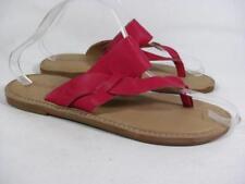 Timberland Leather Flip Flop Slide Sandal Women size 7 Fuchsia