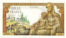Billet 1000 FRANCS 28 janvier 1943 DÉMÉTER - FRANCE Alph.K.3279 F.40.17 - SUP++