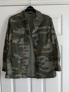 Topshop camouflage jacket Size 6 womens