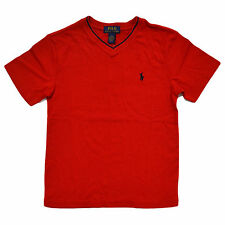 Polo Ralph Lauren Boys T-Shirt Short Sleeve V-Neck Kids Casual Top New Nwt Prl