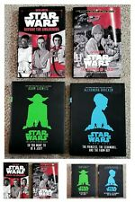 Star Wars Hardcover Set of 4. So you want to be a jedi, Before the awakening