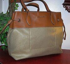 Michael Kors Marina Gold Large Shoppers Travel Tote Bag Purse new