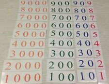 Place Value Cards 1-9000 Laminated Card Set - Montessori