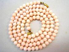 Engelshautkoralle Kugel Korallen Perlen Kette Collier mit Schraubschließe