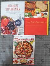 Diät Kochen Buch Rezepte 3 STÜCK Backen Low Carb Ernährung