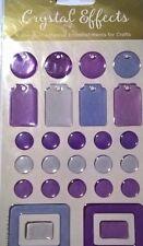 Dovecraft Cristal efectos etiquetas morados Embelishments tarjetas colección de recortes
