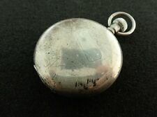 VINTAGE 50MM COOKE + KELVEY CALCUTTA STERLING SILVER HUNTING CASE PW FROM 1905