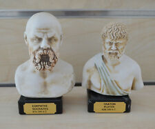 Socrates Plato sculpture ancient Greek Philosophers bust set artifacts