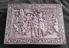 Rembrandt Metal Tin Biscuit Box Raised Surface Holland