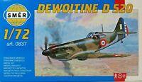 SMER DEWOITINE D 520, französisches Kampfflugzeug WW II, Bausatz 1:72,0837,NEU