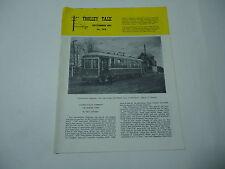 Trolley Talk Magazine Dec. 1981 plus 5 pages supplements Trains Vintage