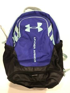 EUC Under Armour Youth Backpack Storm Purple Periwinkle Mint Green