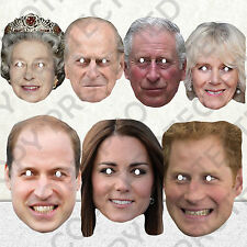 NEW CELEBRITY FACE PARTY MASK HEN WHOLE ROYAL FAMILY STAG MASKS QUEEN #MP4!